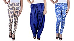 IPG MEGACORP Combo of 2 Women Leggings & 1 Salwar