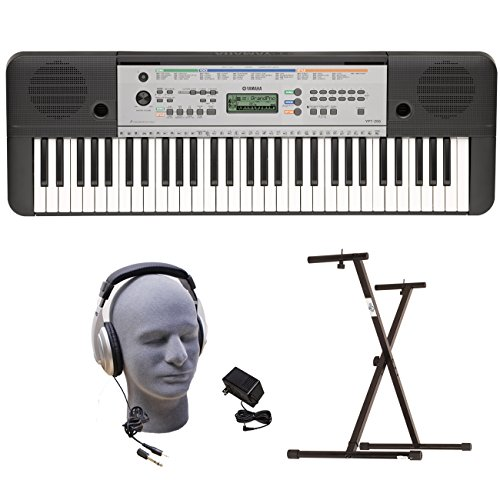 Yamaha YPT255  61-Key  Keyboard Pack with Headphones, Power Supply, and Secure Bolt-On Stand