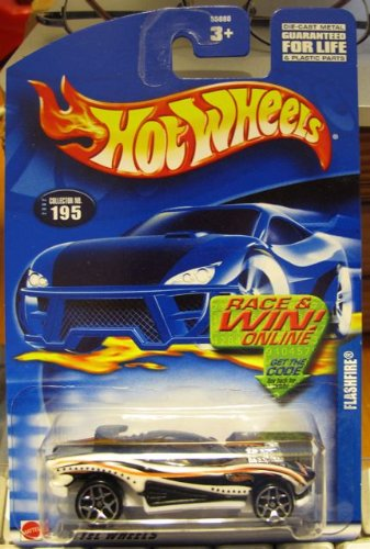 Hot Wheels 2002-195 Flashfire WHITE/BLACK/ORANGE - 1