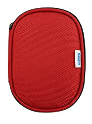 Saco Shock Proof External Hard Disk Case for Sony HD-B1 1TB External Slim Hard Disk - Red