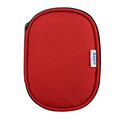 Saco Shock Proof External Hard Disk Case for Sony HD-E2/BO2 2TB USB 3.0 External Hard Drive - Red