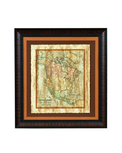 Bassett Mirror Distressed Map I Framed Print
