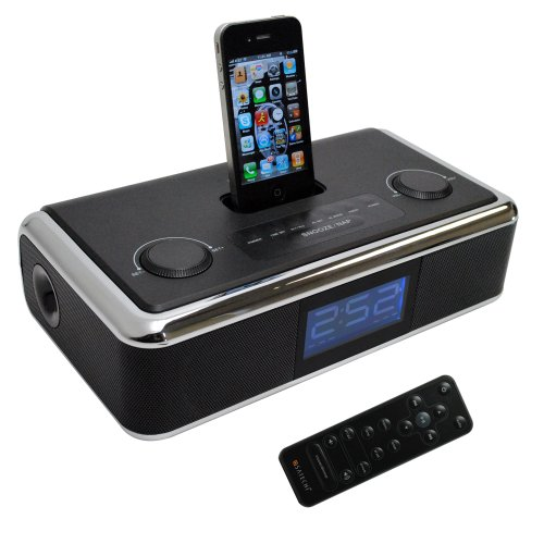 Satechi Sp3-Box Docking Alarm Clock Radio Speaker For Iphone 4S, 4, 3Gs, 3G, Ipod Touch 4G, Ipod Nano 6G