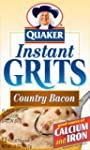 Quaker Instant Grits Country Bacon, 1...