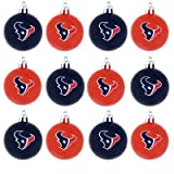 NFL Plastic Ball Ornament (Set of 12) NFL Team: Houston Texans at Amazon.com
