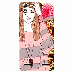 Happy Girl - Mobile Back Case Cover For Lenovo A6000 Plus