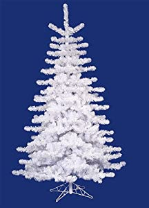 6.5' Crystal White Artificial Christmas Tree - Unlit