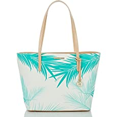 Avenue Tote<br>Turquoise Palm