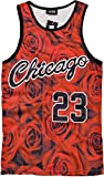 YCMI Hip Hop Men's Chicago Jordan 23 Gym Tank Tops Undershirt Basketball Jerseys (L, Chicago 23)