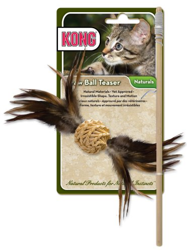 KONG Straw Ball Teaser Cat Toy (Colors Vary)