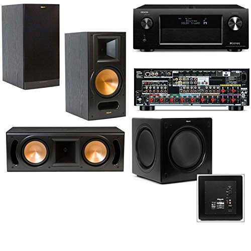 Klipsch Rb-81Ii 3.1 Home Theater System-Denon Avr-X4000 In-Command 7.2- Black