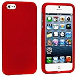 myLife Red Flat Series (2 Piece Snap On) Hardshell Plates Case for the iPhone 5/5S (5G) 5th Generation Touch Phone (Clip Fitted Front and Back Solid Cover Case + Rubberized Tough Armor Skin)