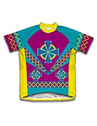 Flower Patterns Short Sleeve Cycling Jersey for Women
