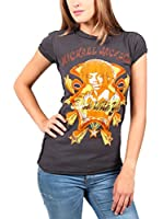 Amplified Camiseta Manga Corta Vintage-Michael Jackson (Carbón)