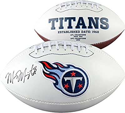 Marcus Mariota Tennessee Titans Autographed White Panel Football - Fanatics Authentic Certified - Autographed Footballs