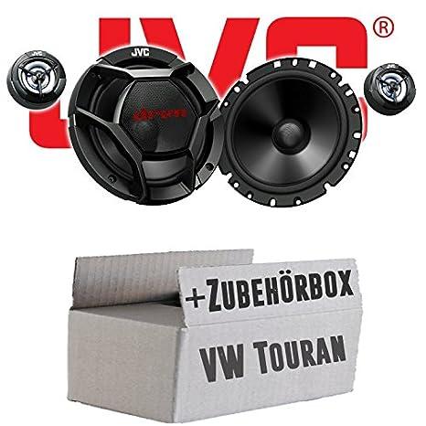 VW Touran 1 Heck - JVC CS-DR1700C - 16cm 2-Wege Lautsprecher System - Einbauset