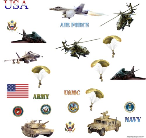 Roommates Rmk1009Scs Armed Forces Peel And Stick Wall Decals front-1042430