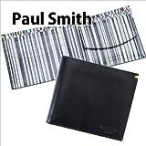 ポールスミス Paul Smith 財布 二つ折り財布 メンズ ブラック(黒)×グレーストライプ AHXJ 2663 W510 B [ウェア&シューズ]