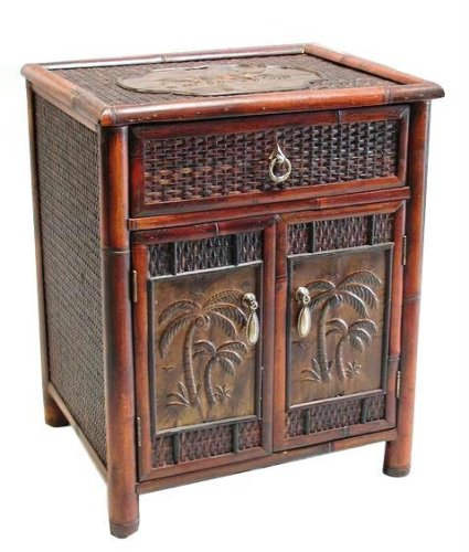 Cheap Bamboo Palm Tree Nightstand Side End Storage Table (B0012EDXPW)