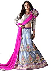 Khushi Trendz Women's Net Semi-Stitched Lehenga Choli Set_KT9183_Multicolored_Freesize