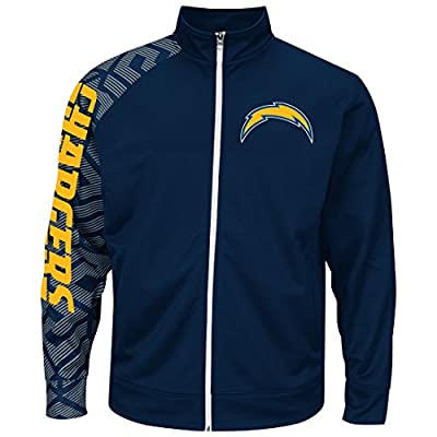 """San Diego Chargers Majestic NFL """"Moves"""" Men's F/Z Therma Base Sweatshirt"""