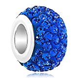 LovelyJewelry Sep Simulated Birthstone charms Blue Synthetic Crystal Beads For Bracelet