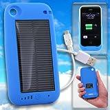 【iPhone3G/3GS専用】ソーラーハイブリッド充電ケース solar charge jacket-i(ブルー)【ギフトショー春2010出品商品】