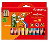 Office Product - STABILO woody 3 in 1 10er Etui mit Spitzer - Multitalent-Stift (aquarellisierbarer Buntstift)