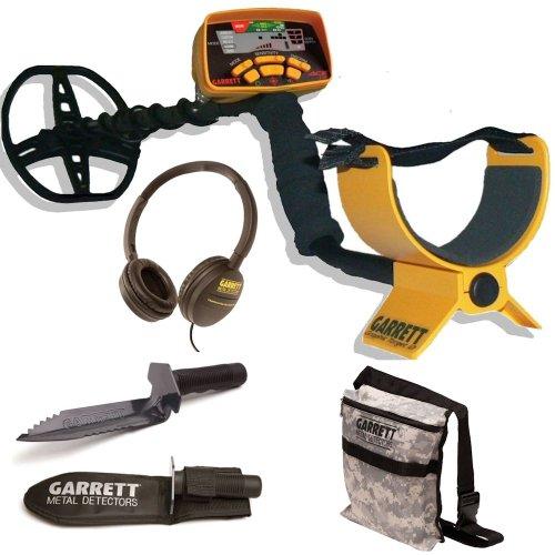 Garrett Ace 350 Metal Detector W/Garrett Edge Digger & Camo Pouch