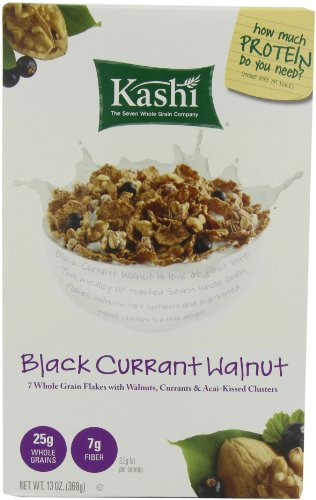 Kashi U Cereal, Black Currants & Walnuts, 13-Ounce Boxes (Pack of 4)