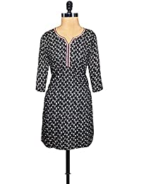Unnati Silks Women Pracheen Kala Black Cotton Printed Kurti