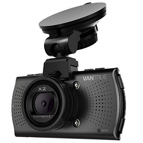 Vantrue X2 Dash Cam - 2.5K (2560x1440P +HDR) Super HD 2.7