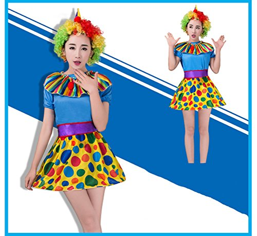 Shining Full Set Clown Costume for Party Halloween Female Clown Costume