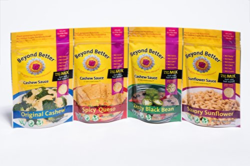 Beyond Better Cheese Alternative 4-variety Pack Bundle (One of Each Flavor) (Beyond Better Cashew Cheese compare prices)