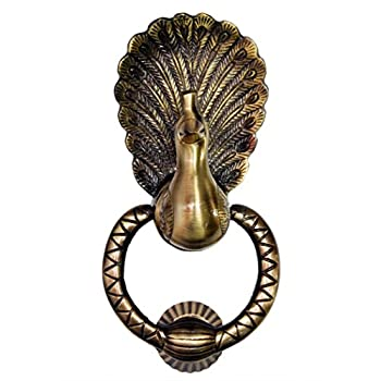 Unique Vintage Design Peacock Door Knocker (Full Brass)