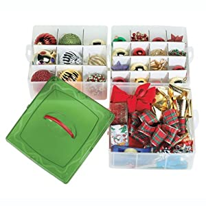 christmas ornament storage boxes: snap and stack