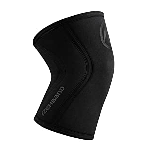 Rehband Rx Knee Support - 5mm - Carbon Black - XSmall - 1 Sleeve (Color: Carbon Black, Tamaño: X-Small)
