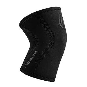 Rehband Rx Knee Support - 5mm - Carbon Black - XLarge - 1 Sleeve (Color: Carbon Black, Tamaño: X-Large)