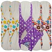 Love My® /Mama/Girl/Maiden/Antibacterial Bamboo Fiber/ Menstrual Pads/ Reusable/ Panty Liners - 6pcs Pack-(Large...