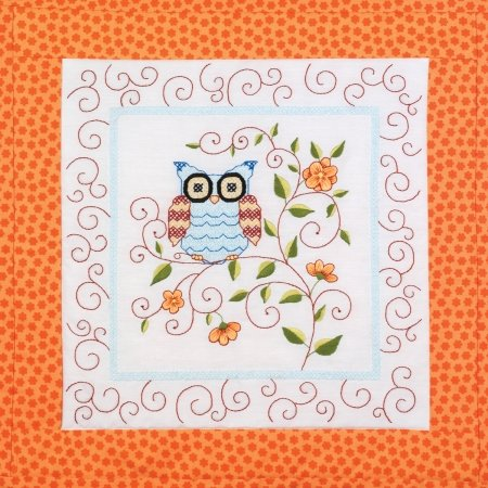 Janlynn 21-1474 Owl Quilt Blocks Stamped Cross Stitch-15X15 6/Pkg