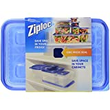 Ziploc One Press Seal Large Rectangle Container - 2 ct