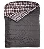 Search : TETON Sports Fahrenheit Mammoth Queen Size COTTON Flannel Lined Sleeping Bag (94-Inchx 62-Inch, Grey)