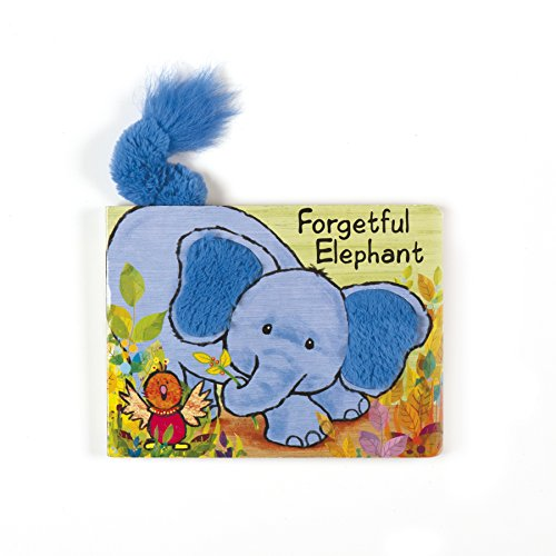 Jellycat Board Books, Forgetful Elephant Book - 7.5""