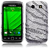 BLACKBERRY TORCH 9860 ZEBRA STRIPED DESIGN DIAMANTE CASE / COVER / SHELL / SHIELD PART OF THE QUBITS ACCESSORIES RANGEby Qubits