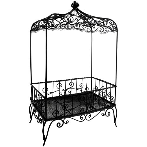 Amazon.com - 12.5 inch Handmade Vintage Victorian Canopy Style Black Décor Table Top Earrings Necklaces Bracelets Jewelry Holder / Organizer Stand / Display Rack -