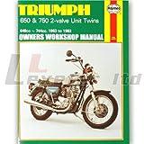 Haynes Manual for Triumph T6 Thunderbird 1963