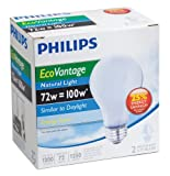 Philips 72-Watt A19 EcoVantage Light Bulb, Natural Light