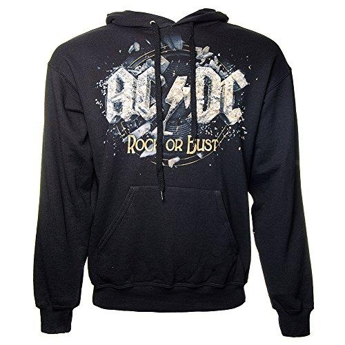 AC/DC-Felpa con cappuccio rock or Bust Black XX-Large