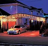 LEDwholesalers 16 Feet 128 LEDs Icicle Christmas Holiday Lights with White Wire, Warm White Light, X059WW
