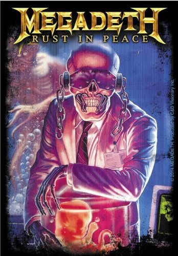 Licenses Products Megadeth Rust In Peace Sticker